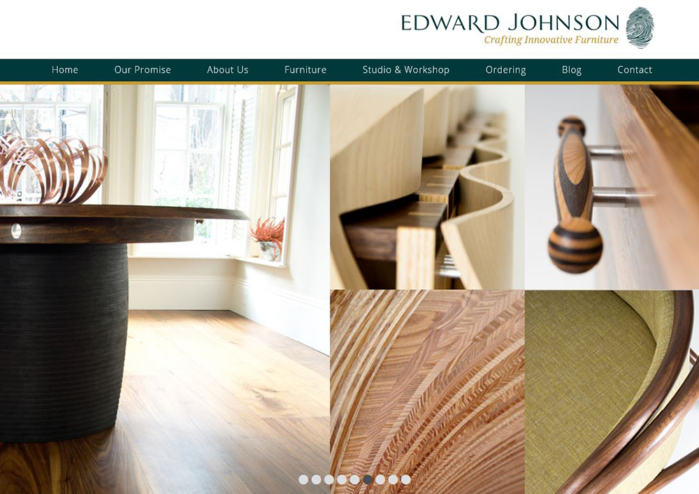 A screen shot of the home page our our new website.