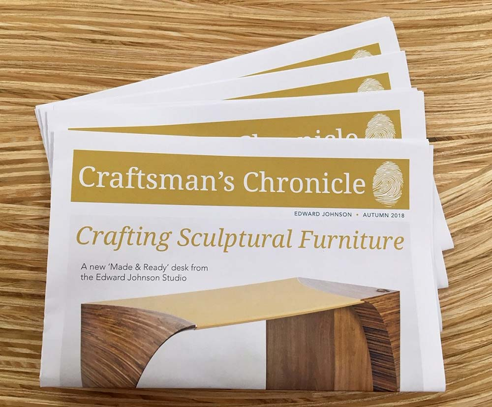 A stack of our printed Craftsman's Chronicle newspapers