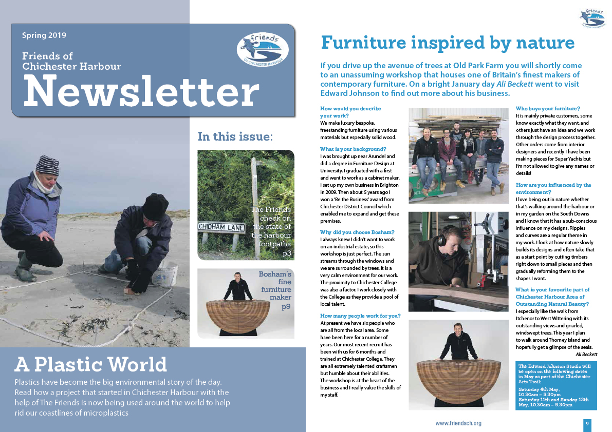 Friends of Chichester Harbour: magazine article