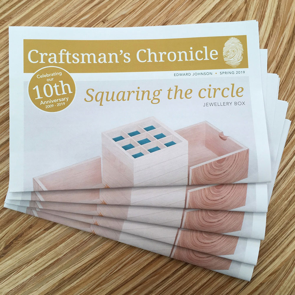 Edward Johnson's Craftsman's Chronicle Spring 2019 newspaper.