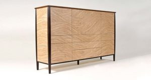 Murano sideboard showing our wavy Murano veneer in ash and olive ash.