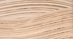 Detailed view of the ash sideboard. Showing the wavy veneers in ash and olive ash in close detail.
