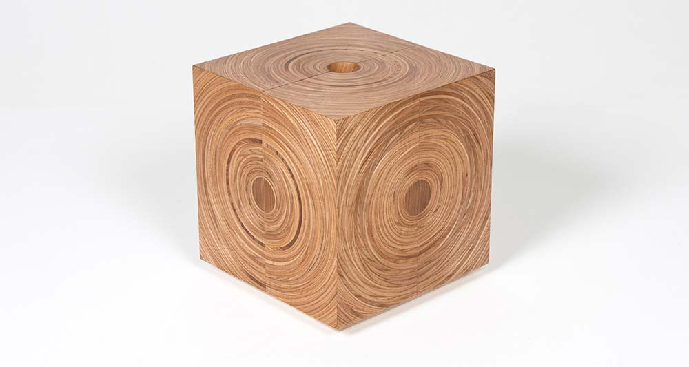 Squaring the Circle bespoke limited-edition elm jewellery box