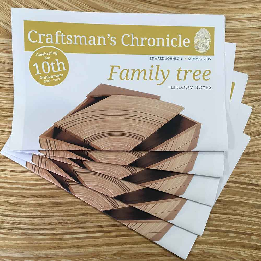 Printed copies of our Craftsman's Chronicle Summer 2019 newspaper.