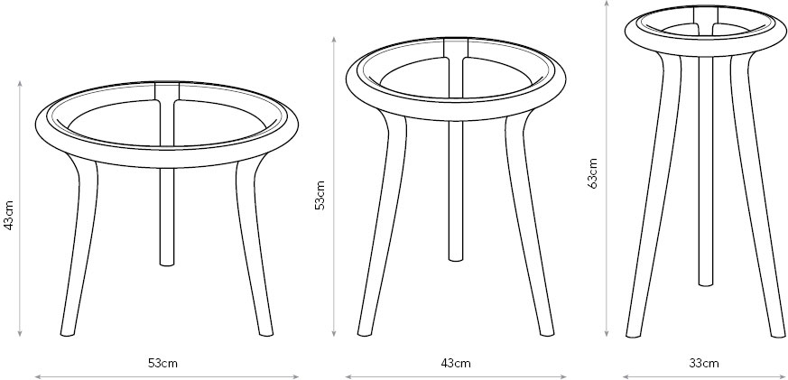 Chichester Tables diagram with dimensions.