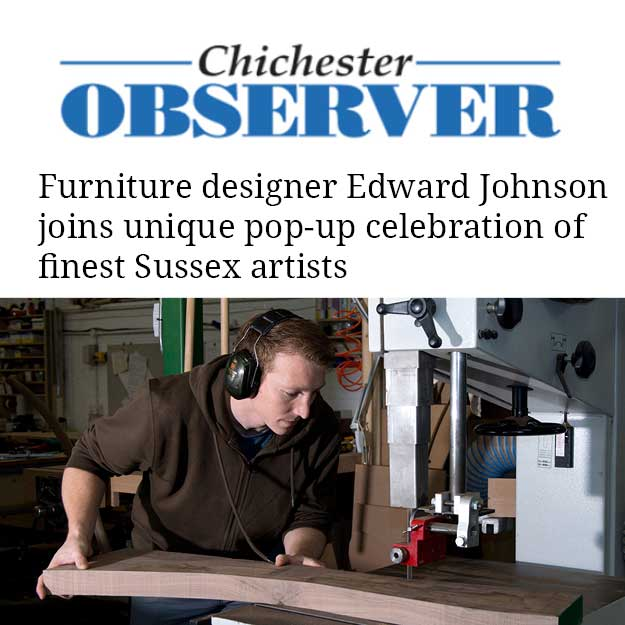 Article in Chichester Observer featuring Edward Johnson 14 November 2019