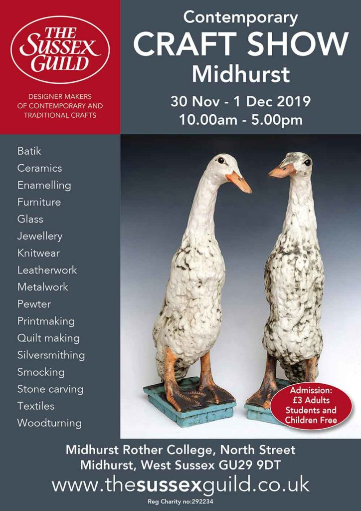 Poster for Sussex Guild Midhurst exhibition