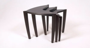 Ebonised Walnut and fumed oak tables