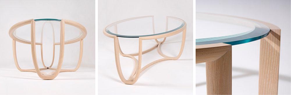 Ellipse ash coffee table by Edward Johnson.