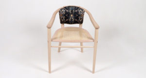 Front view of the ash Sussex chair.