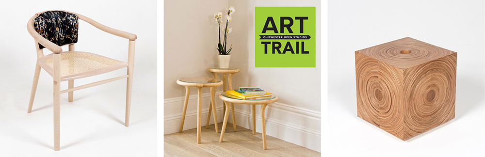 Chichesrer Art Trail logo with examples of our furniture