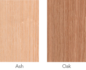 Ash and oak wood sample