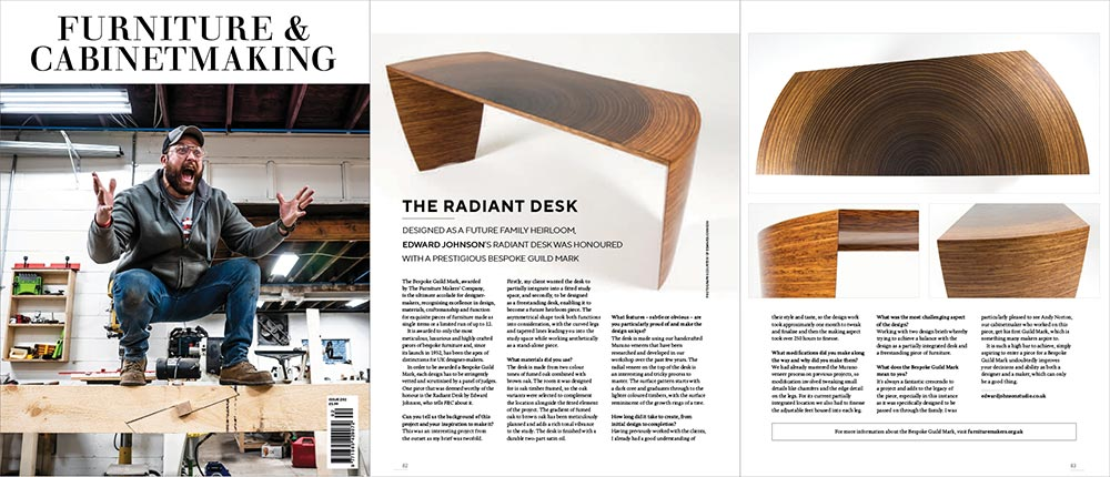 Article in Furniture & Cabinetmaking Magazine