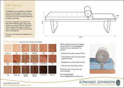 Mill Bench product sheet