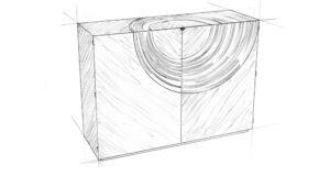Helios Murano Cabinet sketch