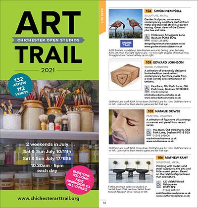 Chichester art Trail brochure cover.