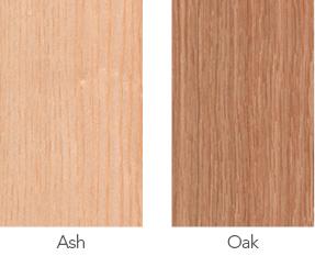Ash and oak wood samples