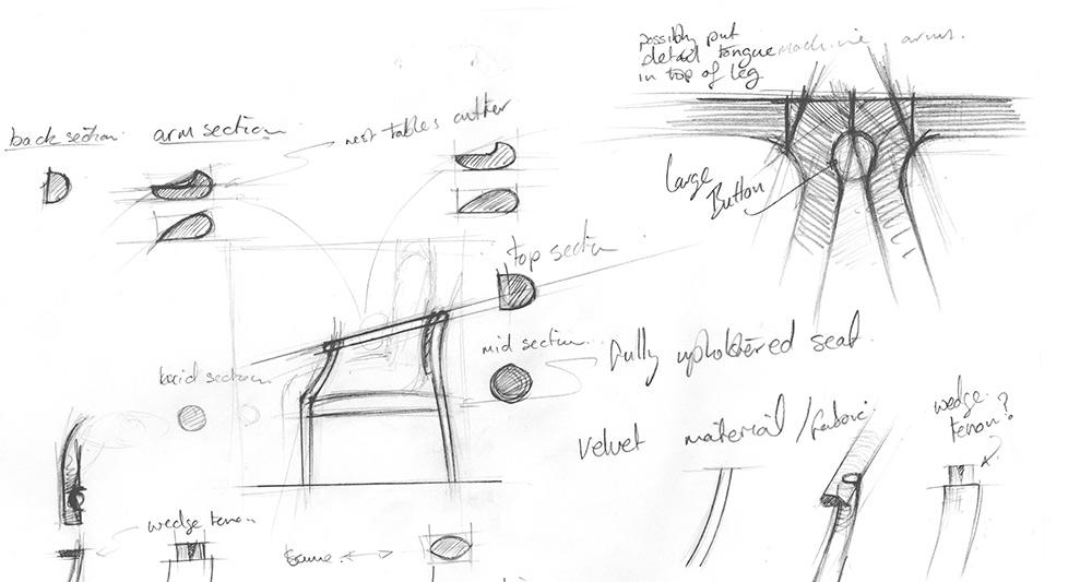 Furniture pencil sketches